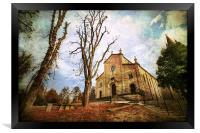 Church Levizzano in autumn, Modena Italy, Framed Print