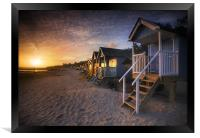 Wells-next-the-Sea Beach Huts , Framed Print