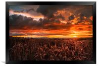 Red sky at night , Framed Print