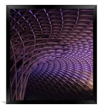 Kings Cross rail station, Framed Print