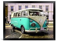 Split Screen VW Camper, Framed Print