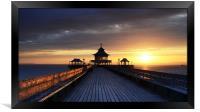 On Clevedon Pier Sunset, Framed Print