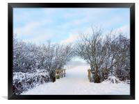 Archway snowed in field, Framed Print
