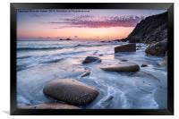 Porth Nanven Beach, Framed Print