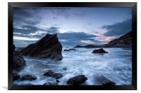 Cornwall Coast at Whitsand Bay, Framed Print