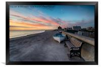 Stunning Sunset Over Chesil Cove, Framed Print
