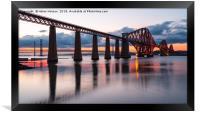 Sunset over the Forth Bridge, Framed Print
