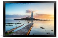 St Mary's Island at Whitley Bay, Framed Print