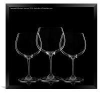 Wine Glasses, Framed Print