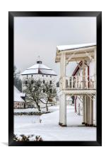 Hovdala Castle Balcony in Winter, Framed Print
