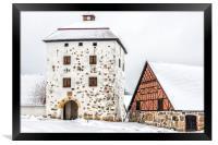 Hovdala Castle Gatehouse in Winter, Framed Print