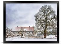 Hovdala Castle in Winter, Framed Print