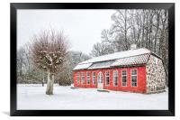 Hovdala Castle Orangery in Winter, Framed Print