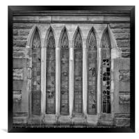 Broken Church Windows, Framed Print