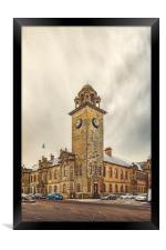 Clydebank Town Hall Corner, Framed Print