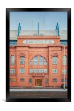 Rangers Ibrox Stadium Facade, Framed Print