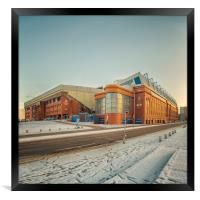 Rangers Ibrox Stadium Road, Framed Print