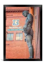 Rangers Ibrox Stadium Statue, Framed Print