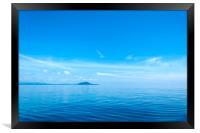 Minimalism Blue Horizon, Framed Print