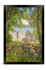 Rya Church Ruin, Framed Print