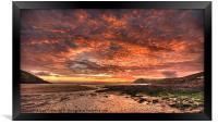 Manobier Sunset, Framed Print