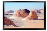 The White Desert,, Framed Print