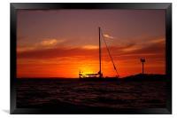Sunset Sailboat, Framed Print