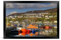 Mallaig Harbour, North West Scotland., Framed Print