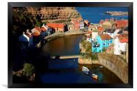 Picturesque Staithes, Framed Print
