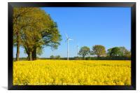 Golden Countryside, Framed Print