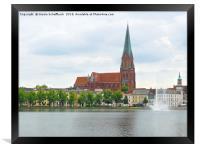 Schwerin Cathedral, Framed Print