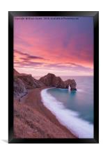 Durdle Door sunrise , Framed Print