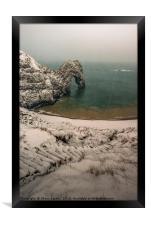 Durdle Door blizzard morning , Framed Print