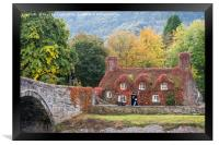 Tu Hwnt I'r Bont in Autumn, Framed Print