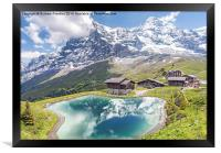 Eiger and Reflection in Alpine Lake, Framed Print