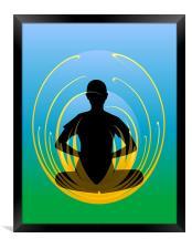 Yoga - Lotus Position, Framed Print