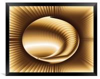 Abstract Golden Shell, Framed Print