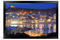 St Ives Harbour at dusk, Framed Print