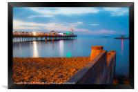 Herne Bay Pier at Twilight, Framed Print