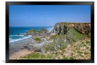 North Cornwall Coast near Porth, Framed Print