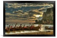 Ton Sai Evening, Framed Print