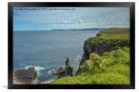 Handa Island Cliff View, Framed Print