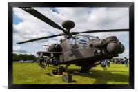 Army Air Corps Apache AH1 on the ground, Framed Print