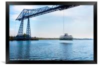 TeesTransporter Bridge, Framed Print