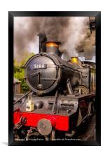 GWR Steam Engine 5199, Framed Print