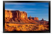 Sentinel Mesa Dawn, Framed Print