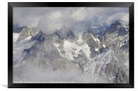 Aiguille du Midi, Framed Print