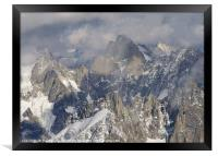 Mist and Light on the Aiguille du Midi, Framed Print