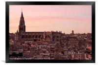 Sunset over Toledo, Framed Print