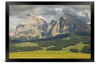 Alpe di Suisi, Framed Print